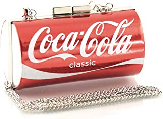 Mini Coco-Cola Can Shoulder Clutch Bag, 4 1/2 Inches
