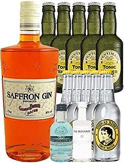 Boudier Saffron Gin 0,7 Liter  Thomas Henry Paket  Fentimans Paket  London Blue Miniatur 5 cl  Botanist 5 cl