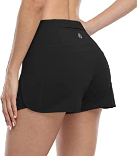 ATTRACO Womens Running Workout Shorts with Pockets Gym Athletic Sports Shorts for Women Quick Dry-3 inches