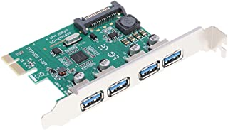 Baosity 4 Ports PCIE USB 3.0 Hub Adapter Splitter, 5Gbps PCI Express Card Expansion, for Desktop Computer Motherboard Acce...