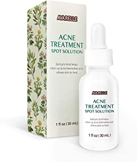 Acne Treatment Spot Solution Serum With 1.5% Salicylic Acid For Blemishes, Redness, Inflammation