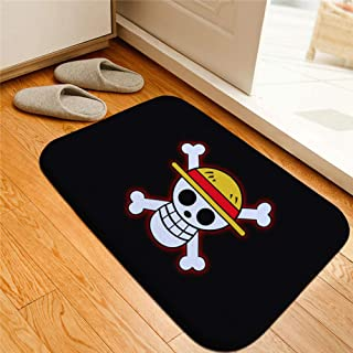 Cartoon One Piece Printed Floor Mats Anti-Slip Rugs Anime Luffy Carpets Front Door Doormat Bathroom Carpet Kitchen Mats Gift