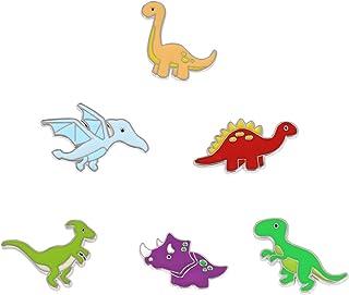 Mein HERZ 6 Pz Spille di Dinosauro, Spilla di Bavero Distintivi, Spille smaltate a forma di cartoni animati simpatici dist...