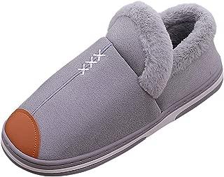 Wadonerful Men Women Home Slippers Winter Warm Waterproof Soft Plush Slippers Indoor Outdoor Bedroom Floor Cotton Shoes