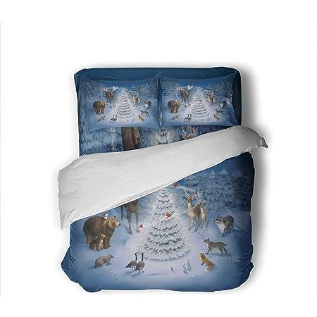 cotton pillowcases children/'s gift Christmas linens blue Christmas gift Christmas Teddy Bears Pillowcases 2 Handmade queen NEW