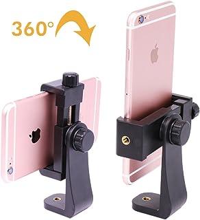 Ulanzi Montaje en trípode/Soporte Vertical Soporte de Smartphone/teléfono Clip Clipper Adaptador de trípode para iPhone Samsung teléfonos Inteligentes 2-1/4-3 - 5/8de Ancho