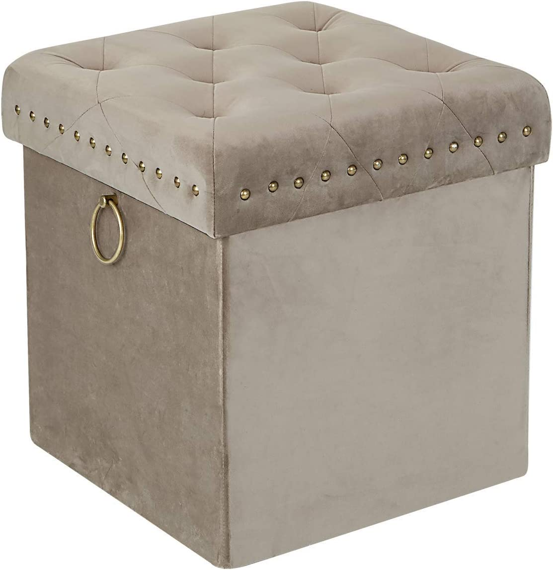 Inspire Me Home Décor Anastasia 5 ☆ very popular Studs Metal Ottoman Lux Memphis Mall with