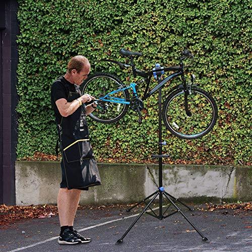 Hengda Fahrradmontageständer Klappbar Montageständer Höhenverstellbar Reparaturständer 360° Rotierbar für die Fahrradreparatur für Fahrräder Aller Art bis 50 kg