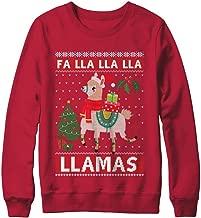 CenturyTee FA Lla Lla Llama Christmas Singing Cute Ugly Sweater Shirt Sweatshirt