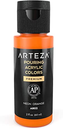 Arteza Acrylic Pouring Paint High Flow Set Of 32 Assorted Colors 2oz Bottles