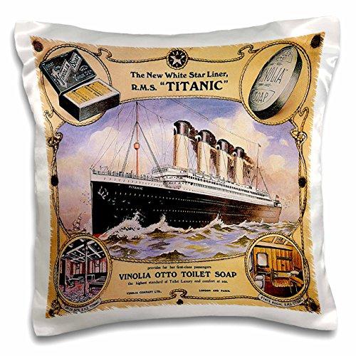 3dRose Vintage White Star Line Titanic Vinolia Otto Toilet Soap Advertising Poster-Ceramic Tile ct/_149245/_4 12-inch Multicolor