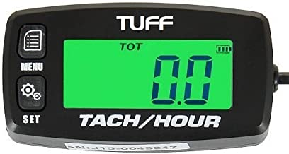 TUFF Tach / Hour Meter WATERPROOF UNIVERSAL Backlit Tachometer RPM Gauge Lighted Display for - ATV PWC Outboard Yamaha Honda Engines Polaris Pumps Generators Boats Motorcycles Scooters Cleaners