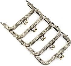 Metal Frame Purse Frame Kiss Clasp Lock Squared Design Bag Clutch Frame DIY Craft 5PCS 10.5X4.5CM