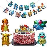 Cumpleaños Pokemon Globo, Decoracion Cumpleaños Pokemon, Fiesta Cumpleaños Pokemon, Pikachu Fiesta Globo, Pokemon Pikachu Globo, Helium Foil Globo Cosas para Fiestas de Pokemon Cumpleaños Regalos (A)
