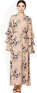 Mingyangjun فستان طويل للنساء مقاس كبير من أزياء سعودي المسلمين المسلمين فستان طويل وفستان طويل