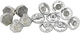 5 Beyblade Metal Face Bolts + 8 Performance Tips Fusion Fury Masters Solid Steel Fits Takara Tomy and Hasbro Beyblades