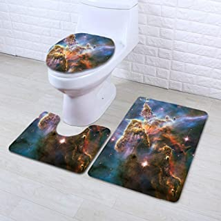 MMYP Toilet Floor Mat Super Soft Printing Three-Piece Bathroom Mat Mat Bedroom Carpet Multicolor 4 19.731.5in