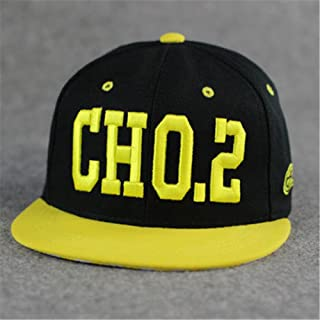 TXP 100% Cotton Embroidered Punk Rock Running Man Song Ji-Hyo Style Baseball Adjustable Hat Cap(cho.2 Yellow)
