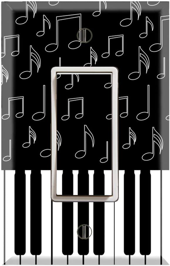 Graphics Wallplates I Love Piano Dual Rocker Gfci Outlet Wall Plate Cover