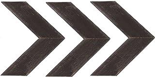 BarnwoodUSA Reclaimed Wood Chevron Arrow, Rustic Wall Mount Decor, Espresso Decorations
