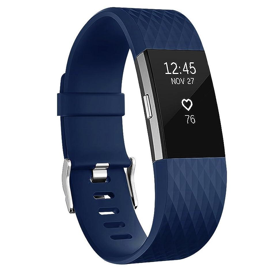 成功見込み無知Vancle バンド for Fitbit Charge 2, 経典の版 柔軟でスポーツ仕様 多色選択 交換ベルト for Fitbit Charge 2 (機械がない)