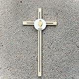 Cruz de pared de madera con cáliz, regalo religioso católico cristiano – suministros para la...