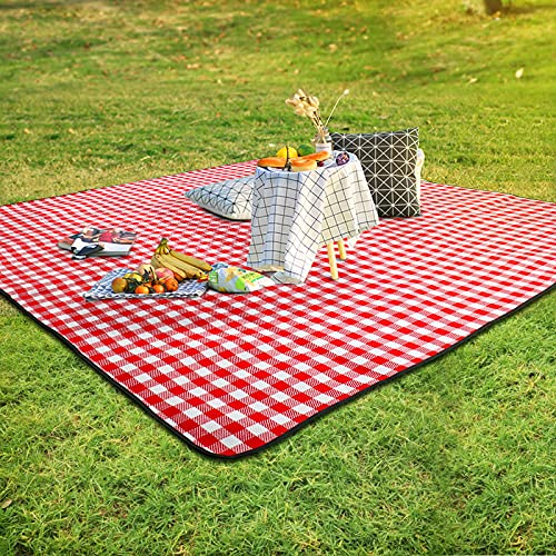 SKYSPER Manta de pícnic grande, impermeable, con respaldo para exteriores, plegable, para camping, ligera, compacta, con funda de mesa, bolsa de transporte