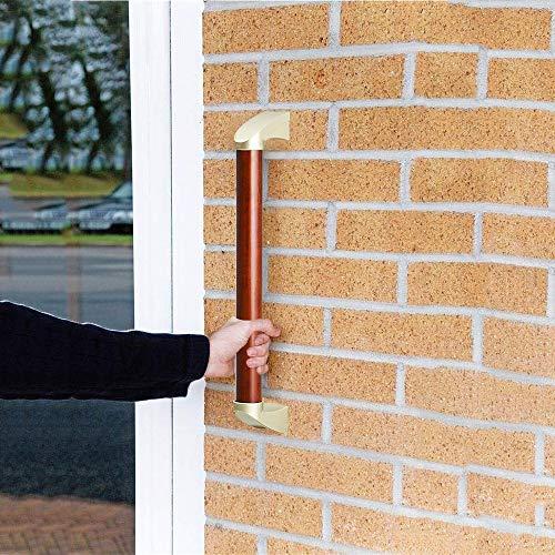 FuAo Madera Asidero Al Aire Libre, Impermeable Asidero Ducha para Discapacitadas WC, Antideslizante Agarraderas Baño para Corredor/Escaleras/Garaje54cm