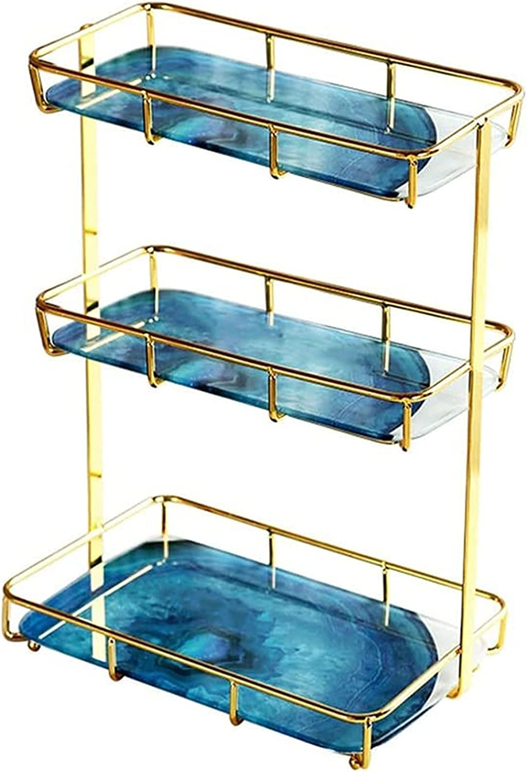 DNZJ Bathroom Glass Shelf Tier Selling Selling and selling Square 3