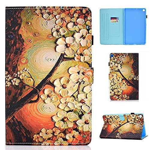 YYLKKB para Samsung Galaxy Tab A SM T510 T 510 515 Caja de la Tableta Pintada de Mariposa Linda para Samsung Galaxy Tab A 10.1 2019 Caso-Flor_