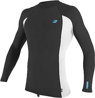 O'Neill Mens Premium Skins Long Sleeve Rash Vest 4170B - Raven/White