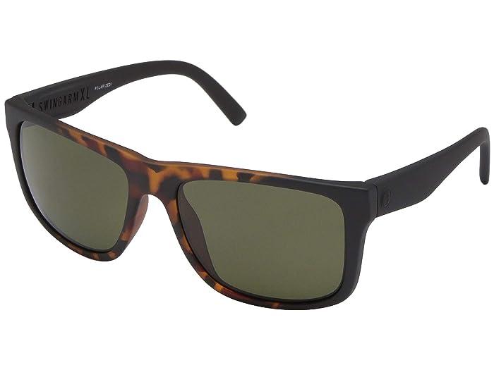 Electric Eyewear Swingarm XL Polarized (Tort Burst/Ohm Polarized Grey) Athletic Performance Sport Sunglasses