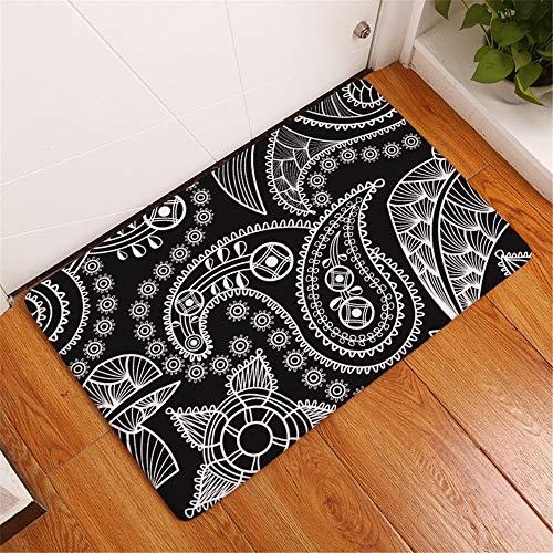 Noun alfombras Cocina Alfombrillas Impresas a la Moda, Dormitorio en el hogar, Sala de Estar, Alfombrilla de Cocina, Alfombrilla Antideslizante Absorbente 50x80cm