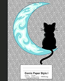 Comic Paper Style I: Blue Moon Black Cat Sailor Book (Weezag Comic Paper Style I Notebook)