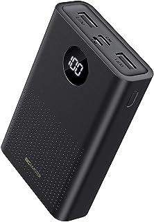 BCMASTER Powerbank 10000mAh, Caricabatterie Portatile con 2 Ingressi, Batteria Esterna Sottile per iPhone 12 PRO Max/11 PR...