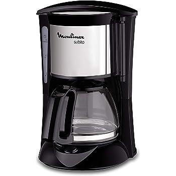 MOULINEX Cafetières filtre SUBITO inox 6 Tasses Machine à café cafetière électriqueCafetière Capacité 0,6L Antigoutte Porte-filtre pivotant Auto off 30 minutes FG150813
