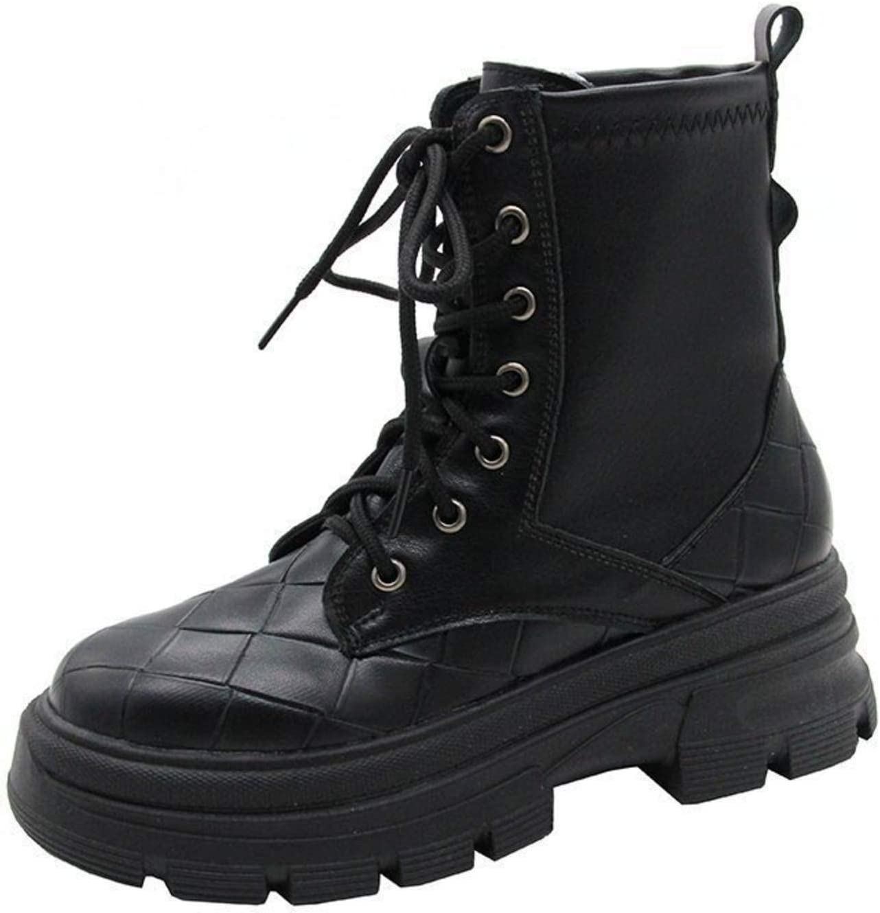 Boots for Girls Lady Kids with PU Snow Boots Stylish Flat Bottomed Shoes High Top Warm Non Slip Outdoor Motorcycle