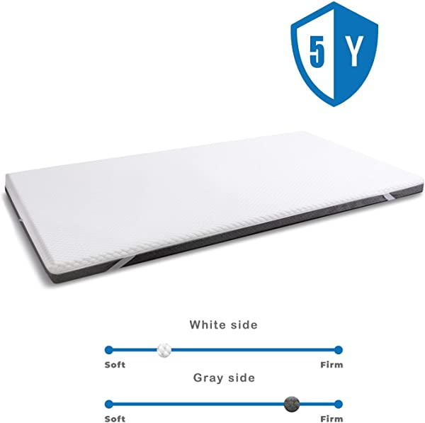 Wavve 3 Inch Gel Infused Memory Foam Mattress Topper Ventilated 2 Layer Design With Removable Cover For All Seasons Twin