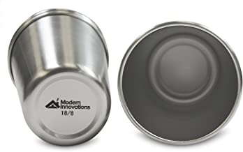 Modern Innovations 16 Oz Premium Stainless Steel Pint Cups (5 Pack)