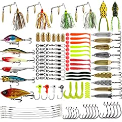 Multiple Types Accessories: This fishing tackle box includes fishing lures, swivels, fishing beads, swivels connector, Jig heads, copper bullet sinkers, soft baits, jig mold hooks, topwater lures, buzzbait and other fishing gear. Life-like Design: Al...
