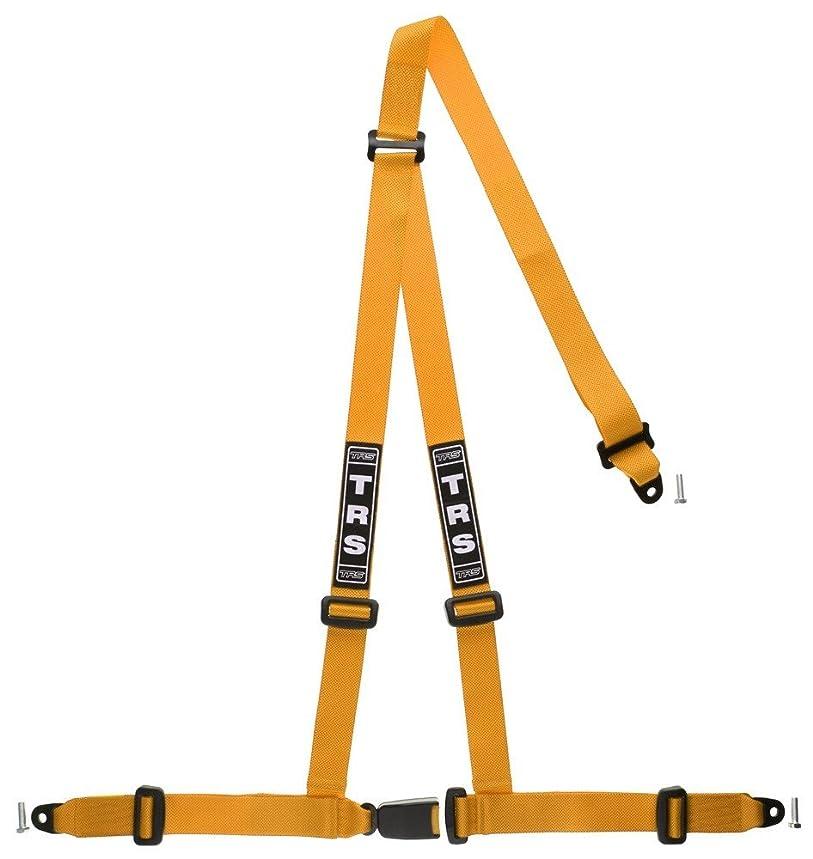 TRS-MOTORSPORT MH130?100?Orange 3?Point Sport Strap Shoulder Harness Strap Fixes E-Registration for JDM Rally?–?Orange