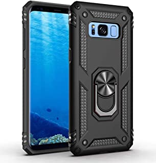 Caseitnow - Phone case for Samsung Galaxy Note 8 / Magnetic Shockproof 360 Ring Holder with Kickstand/Hard Shell Cover Military Grade Drop with Back Metal Case for Galaxy Note 8 (Black)