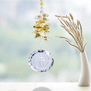 Verre rund herum Chakra Farben 02 17cm Attrape-soleil /«/Flower of Life//» D/écoration de fen/être Motif fleur de vie aux couleurs des 7 chakras