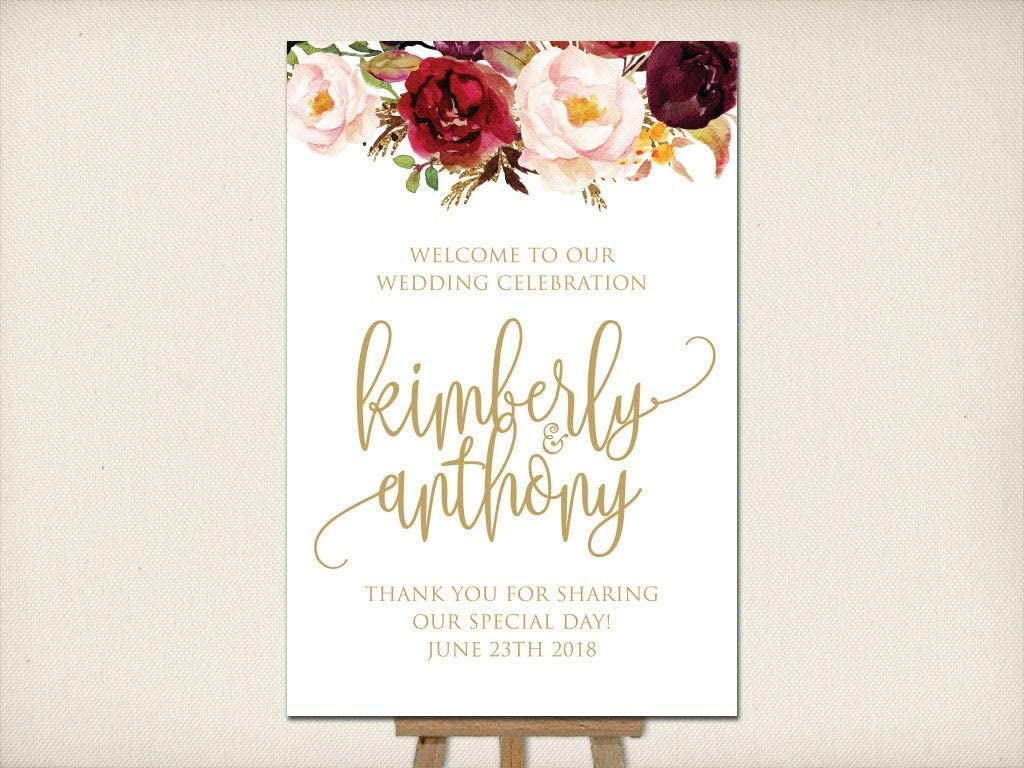 DKISEE Wedding Welcome Sign Poster Denver Mall Mounted Large Max 71% OFF Recepti