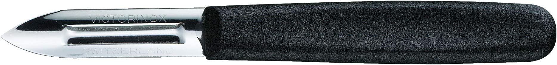 Victorinox 2-1/4-Inch Double Edge Peeler, Black Polypropylene Handle