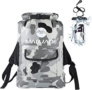 MARJAQE Dry Bag Backpack,22L Roll Top Padded Straps Backpack for Water Sports - Beach,Kayaking,Boating,Swimming,Camping,Surfing,Rafting,Travel