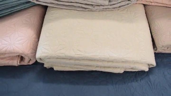 Full//Queen NEW LAURA ASHLEY Cotton Carlisle Mist Quilt//Sham 3 Pc Set Floral