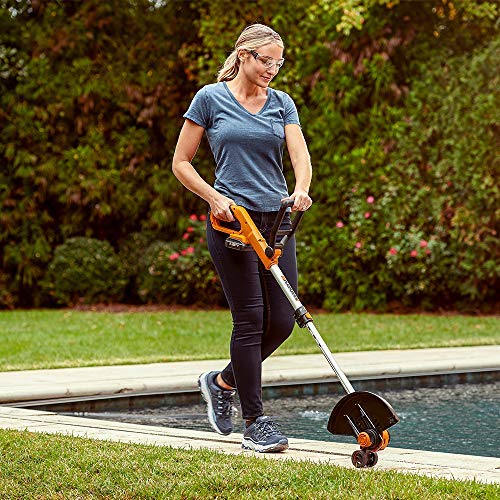 WORX Cordless String Trimmer and Blower WG929.1 Combo, 20V 2 Batteries, Grass Weed Edger