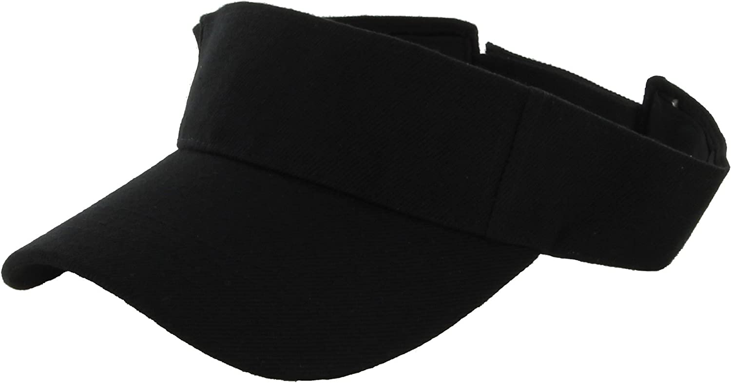 DealStock Plain Men Albuquerque Mall Women Sport Sun Visor Adjustable Ca Free shipping anywhere in the nation One Size