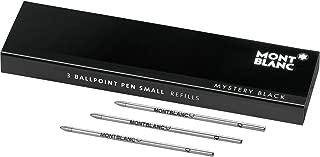 Montblanc Ballpoint Pen Refills Small Mystery Black 116193 – Refill Cartridges for Meisterstück Hommage à W.A. Mozart and Augmented Paper Ball Pens – 3 x Black Ballpoint Refills